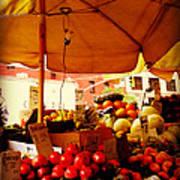 Umbrella Fruitstand - Autumn Bounty Art Print