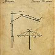 Umbrella Patent - A.b. Caldwell Art Print