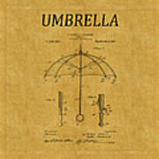 Umbrella Patent 1 Art Print