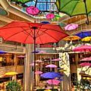 Umbrellas At Palazzo Shops Art Print by Amy Cicconi
