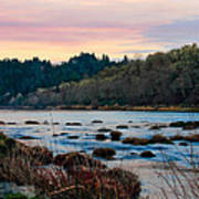 Umpqua Sunset Art Print