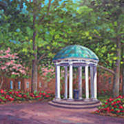 UNC Old Well in Spring Bloom Art Print