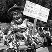 Uncle Harry Clown Drive Carefully  God Bless America Sign Tucson Arizona 1991 Art Print