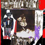 Uncle Sam Richard Nixon Mask Nuns Sitting Child Collage 2013 Art Print