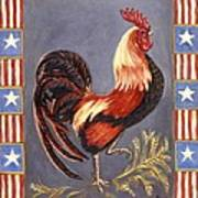 Uncle Sam The Rooster Art Print