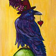 Uncommon Raven Love 1 Art Print