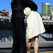 Unconditional Surrender Kiss Art Print