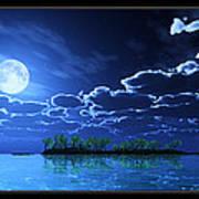 Under A Silvery Moon... Art Print