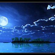 Under A Silvery Moon...artistic Effect Art Print