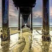 Under Scripps Pier Art Print