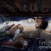 Under The Bed Art Print by Isabella Kung