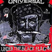 Under The Black Flag Poster 1916 Color Added 2013 Art Print