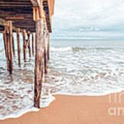 Under The Boardwalk Salsibury Beach Art Print