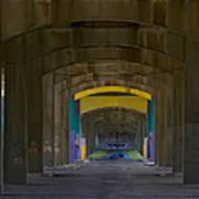 Under The Bridge   #1247 Art Print