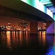 Under The Bridge In Long Beach Art Print
