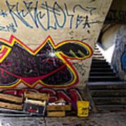 Under The Bridge In Sao Paulo Art Print