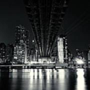 Under The Bridge - New York City Skyline And 59th Street Bridge Art Print