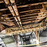 Under The Golden Bridge Art Print