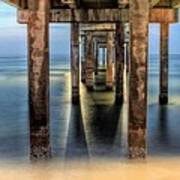 Under The Gulf Shores Pier Art Print by JC Findley