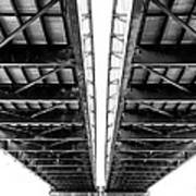Under The Page Bridge Art Print by Bill Tiepelman