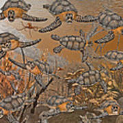 Under The Red Sea II Art Print