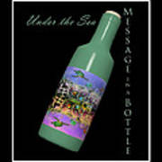 Under The Sea Message In A Bottle Art Print by Betsy Knapp