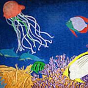 Under The Sea Mural 1 Art Print