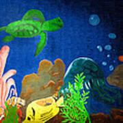 Under The Sea Mural 2 Art Print