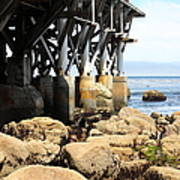 Under The Steinbeck Plaza Overlooking Monterey Bay On Monterey Cannery Row California 5d25050 Art Print