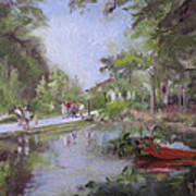 Under The Willows In The Crystal Bridges Pond Art Print
