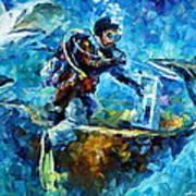 Under Water Art Print by Leonid Afremov