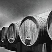 Underground Wine Cellar With Wooden Art Print