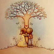 Underneath The Apple Tree Art Print by Karin Taylor
