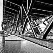 Underside Of The Burnside Bridge Art Print