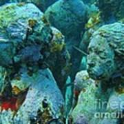 Underwater Tourists Art Print