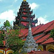 Unfinished Temple In Tachilek-burma Art Print