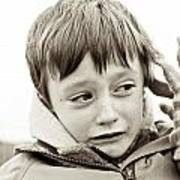 Unhappy Boy Art Print