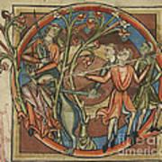 Unicorn Enticed By A Virgin Art Print