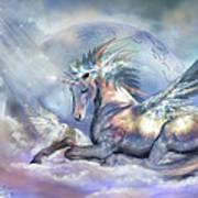 Unicorn Of Peace Art Print