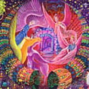Unicornio Dorado Art Print