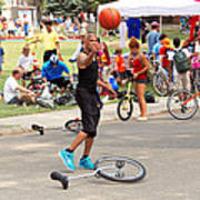 Unicyclist - Basketball - Street Rules  Art Print