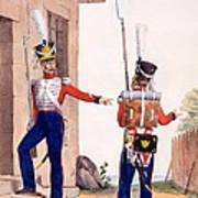 Uniform Of The 8th Infantry Regiment Art Print by Charles Aubry