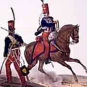 Uniforms Of The 5th Hussars Regiment Art Print