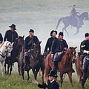 Union Cavalry On The March - Perryville Ky Art Print