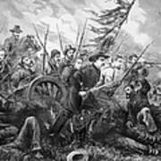 Union Charge At The Battle Of Gettysburg Art Print