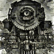 Union Pacific Locomotive 6051 Art Print
