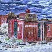 Union Pacific Train Car Painting Art Print