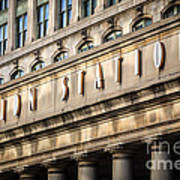 Union Station Chicago Sign And Building Art Print