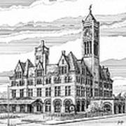 Union Station In Nashville Tn Print by Janet King