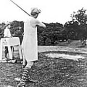 Union Suit Golfer Art Print